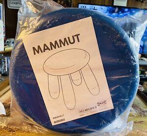 IKEA MAMMUT DISCONTINUED CHILD/KIDS Blue STOOL #16962-NEW SEALED