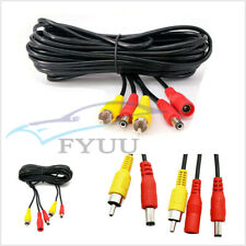 7M Car Truck RCA Power Audio Video AV Cable Extension Wire For Reversing Camera