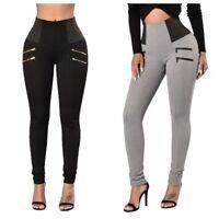 Women Slim Pencil Stretch Casual Long Pants Skinny Leggings High Waist Trousers