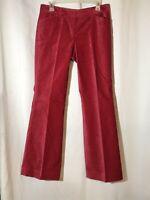 Express Design Studio Editor Womens Dress Pants Slacks Velvet Pink Size 6