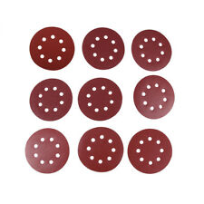 "50pcs 5"" 125mm 8 Hole Round Shaped Sanding Disc Pads Sandpaper 60-400 Grit QU"