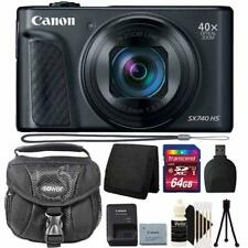 Canon PowerShot SX740 HS 4K Digital Camera Black With Premium Accessory Bundle