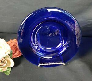 Cobalt Blue Glass Deep Platter
