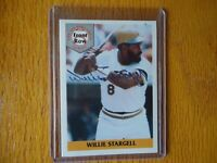 1992 FRONT ROW AUTO WILLIE STARGELL PITTSBURGH PIRATES ON CARD