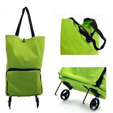Folding Foldable Shopping Trolley Bag Cart Rolling Wheel Grocery Tote Handbag SU