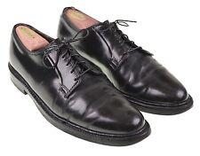 VTG Florsheim Royal Imperial Black SHELL CORDOVAN PTB Plain Toe Blucher Shoes 10