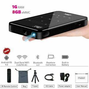 2000 lumens P09-Ⅱ Android 9.0 Wifi HD DLP 4K Mini Projector Miracast HDMI 1080P