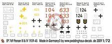 Peddinghaus 1/72 German Panzer III and IV Tank Markings 1939-1945 (7 tanks) 769