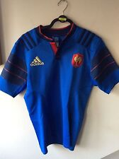 Mens Rare Adidas France Rugby Home Player Version Shirt Uk Size Large