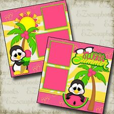 SWEET SUMMER - 2 Premade Scrapbook Pages - EZ Layout 2119