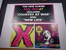 *  THE BAND X  ' hey Zeus' record store mobile-promo-unused-vintage