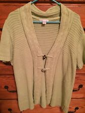 *GUC* Christopher & Banks Lime Green Short Sleeve Sweater - Everyday Look