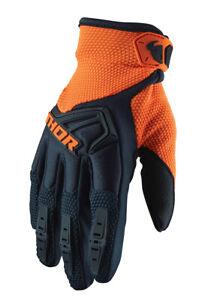 Thor MX Motocross Youth Spectrum Gloves (Dark Blue/Orange) M (Medium)