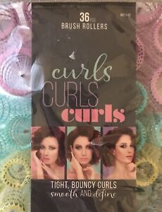 🔥New in Package Conair Brush Rollers Curl and Set Of 36 With Pins