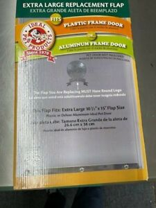 """Ideal Pet Products Vinyl Replacement Flap Extra Large Clear 0.1"""" x 10.5"""" x 15"""""""