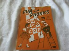 1956 Fun With Phonics school class Workbook learn to read picture guide teacher