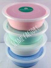 Unicorn Pack 4 Large Tubs Fluffy Slime With Extra Banana Scented Slime