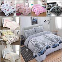 Print Duvet Cover Set 200 TC 100%Cotton Rich Double King Size Quilt Bedding Sets