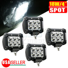 4x 18W Led Work Lights Pods Spot Offroad Lamp For ATV JEEP UTE Truck 4inch Cube