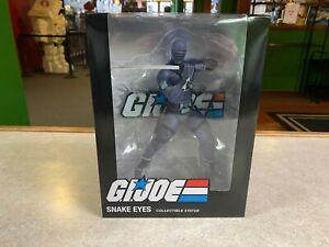 "2020 PC Collectibles GIJoe Cobra SNAKE EYES 10"" Inch 1/8 Statue Figure NIB"