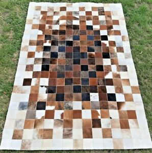NEW COWHIDE PATCHWORK CARPET AREA RUG Cow hide EXPLOSION WOWWW 4ft x 6ft
