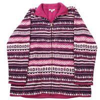 Vintage Striped Fleece Jacket | Women's S | Coat Retro Stripy