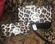 Guess Women's 2 Piece Leopard Crossbody Handbag Purse & Wallet NWT MSRP $148