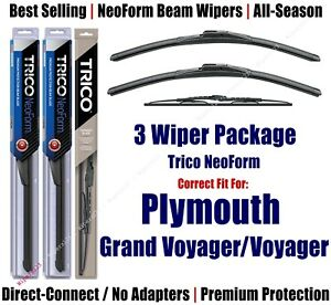 Wiper 3pk Front/Rear NeoForm 1994 Plymouth Grand Voyager/Voyager 16220/180/30180