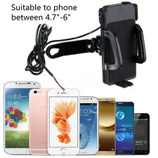 Motorcycle USB Portable Charger Holder 360° Rotate Mount For Phone Mobile GPS