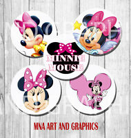 MINNIE MOUSE  Cupcake Topper birthday party decoration PRE CUT MINNIE
