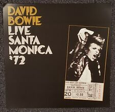 David Bowie Live Santa Monica '72 - 2016 Cardboard Promo Poster Flat