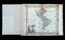 1766 DESNOS: Amazing map: AMERICAS, NORTH & SOUTH AMERICA, MEXICO, UNITED STATES