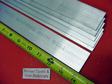 "6 Pieces 3/16"" X 1-1/2"" ALUMINUM 6061 FLAT BAR 14"" long T6511 Mill Bar Stock New"