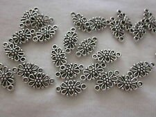 10 Antique Silver Connectors 15x7mm #2753 Combine Post-See Listing