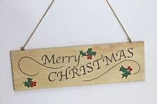 """Gisela Graham Navidad Madera """"Feliz Navidad"""" Colgante Placa"""