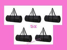 Five (5) IKEA BLACK DUFFLE BAGS Shopping Groceries Laundry ECO Bag w/ Pockets