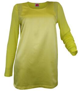 Blusenshirt Langarm Tunika Chiffon Lemon 095187 Travel Couture Heine Patch
