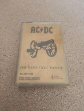 AC/DC - FOR THOSE ABOUT TO ROCK. Cassette tape
