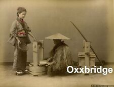 BEAN CAKE SELLER Photo Albumen JAPAN BARREL MAKER Wood Worker HIGH HEEL SHOES