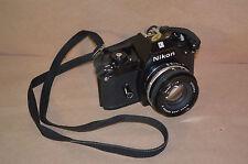 NIKON EM 35mm SLR FILM CAMERA WITH LENSE CASE #1566