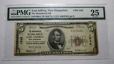 $5 1929 East Jaffrey New Hampshire NH National Currency Bank Note Bill Ch. #1242