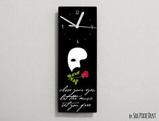Phantom of the Opera Quotes - Close your eyes,let the music ... - Wall Clock