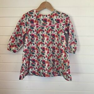 Bebe By Minihaha Long Sleeved Corduroy Dress - Floral Print - Size 18 months