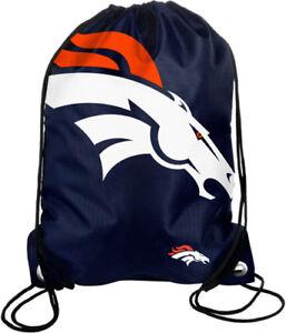 Denver Broncos Back Pack Sack Drawstring Bag Tote NEW Backpack Star BIG LOGO