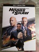 fast furious presents: Hobbs Shaw DVD & DIGITAL CODE)