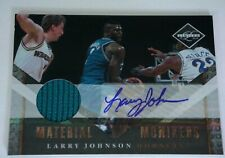 2010-11 Limited LARRY JOHNSON Auto Signed Game Used Hornets TEAL Jersey #d 53/99