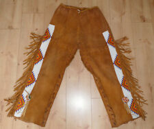 Vintage Native american beaded Rehlederhose,Deerskin pants