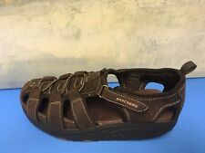 SKECHERS SHAPE UP LEATHER SANDALS WOMEN'S SIZE 7.5 CHOCOLATE # 11805