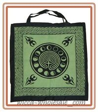 Black Celtic Earth with Moon Phases Tote Wicca Bag Free Shipping