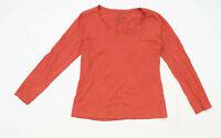 Atmosphere Womens Size 14 Cotton Orange Long Sleeve T-Shirt (Regular)